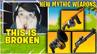 MONGRAAL *FREAKS OUT* After USING NEW MYTHIC AUG, GRAPPLER &  DRUM GUN In Fortnite Season 3!