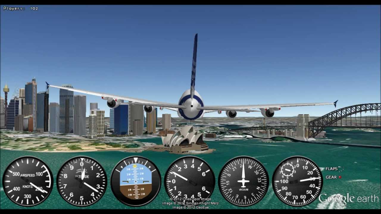 google earth flight simulator   preview   youtube