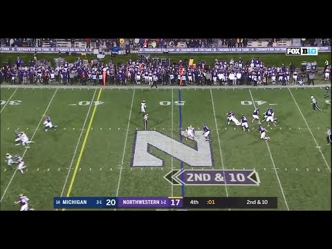 2018: Michigan 20 Northwestern 17