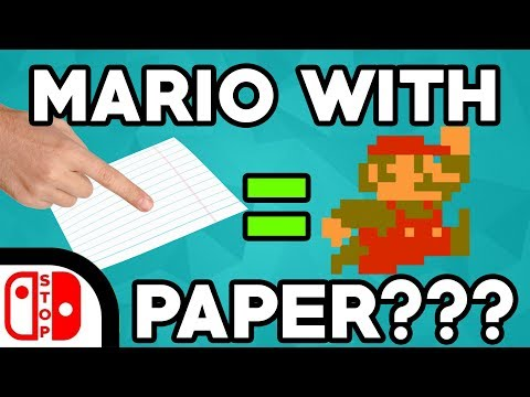 You Can Play MARIO With PAPER!!! (Using a PAPER CONTROLLER)