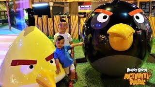 BIGGEST Angry Birds Indoor Activity  Park Fun Childrens Video CKN Toys
