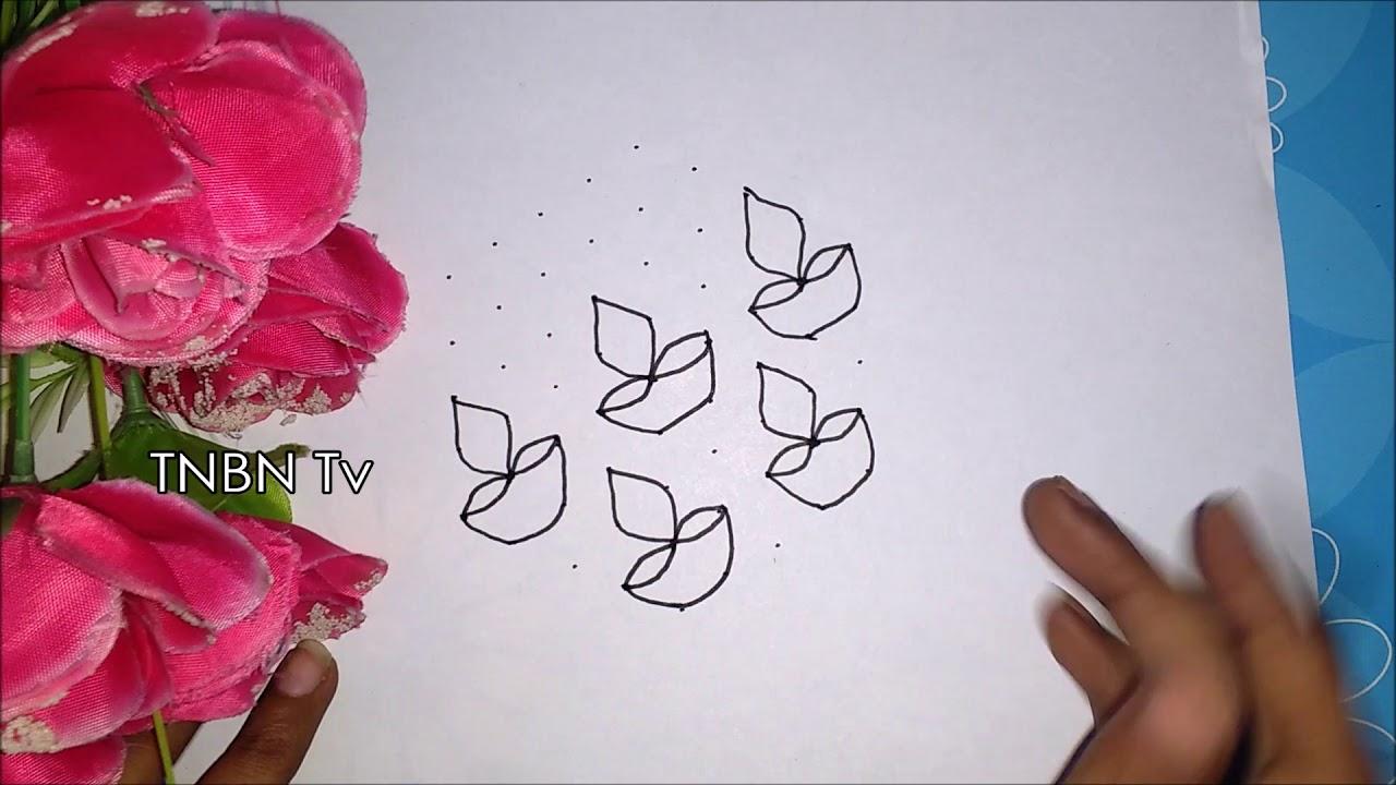 creative rangoli designs with dots   Simple Rangoli Designs for Home ...