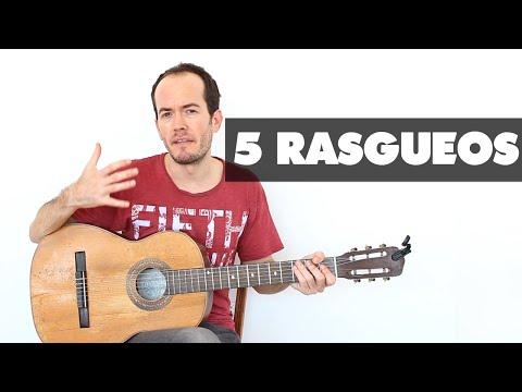 5 Rasgueos para MEJORAR tu mano derecha - Guitarra Fácil Técnica Acordes Acompañamiento