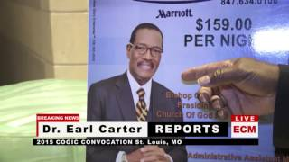 Dr. Earl Carter-Sparks Fly at St. Louis, MO COGIC Convention 11-3-15