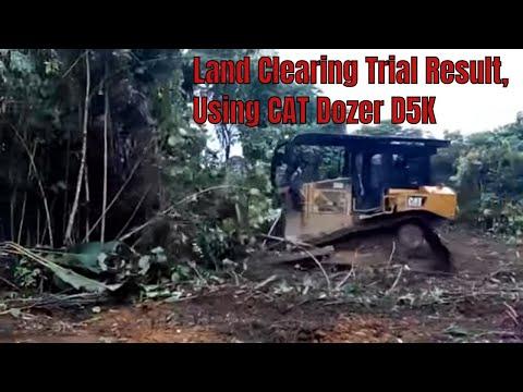 Trial Caterpillar Dozer D5R , Land Clearing Cetak Sawah