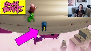 THE BATTLE FOR THE BLIMP! Number 1 GANG BEASTS PLAYER IN THE UNIVERSE   Gang Beasts Multiplayer