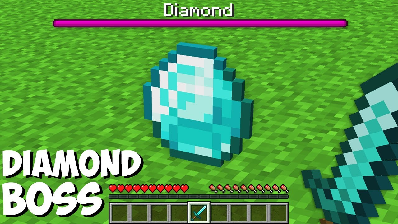 Nobody knew BUT A DIAMOND MOST HARDEST BOSS in Minecraft ! NEW SECRET BOSS !