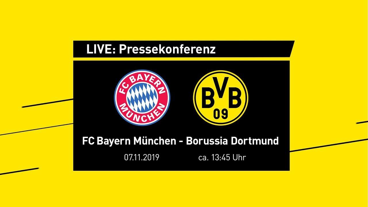 LIVE | Pressekonferenz mit Lucien Favre & Michael Zorc | FC Bayern München - BVB