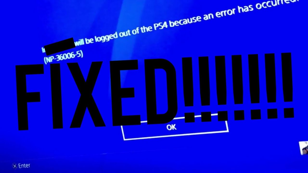 NP-36006-5 error solution for ps4 100% *working*