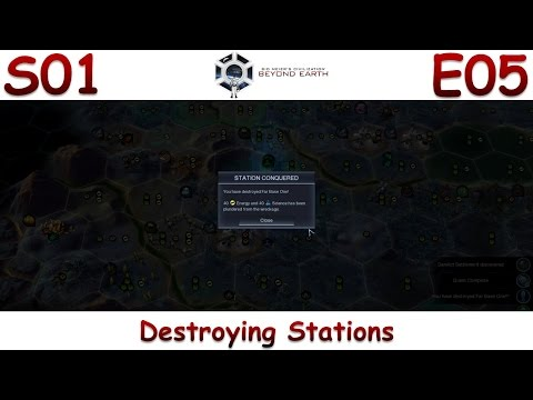 """Beyond Earth (Brasilia) - Let's Play / Gameplay S01E05 - """"Destroying Stations"""""""