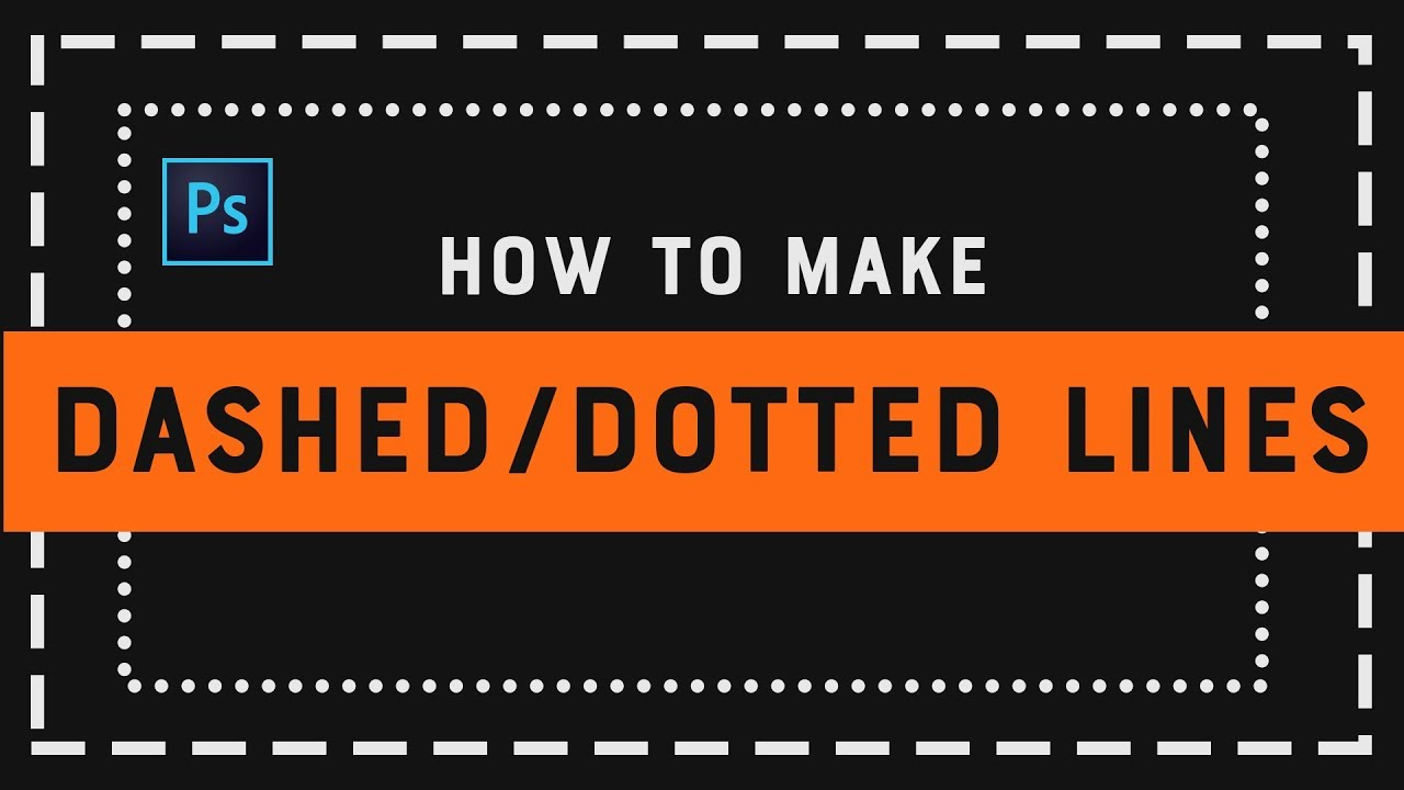 Draw Dashed/Dotted Lines In Photoshop (Urdu/Hindi)