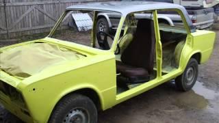 VAZ 2103 restauration. trip. Lada 2013. 1977.