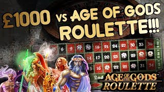 £1,000 vs AGE of GODS Roulette!!!