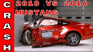 2010 vs 2016 Ford Mustang Crash Test