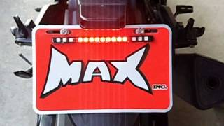 Integrated License Plate Mount Led Stop / Tail Light With Turn Signals Motorcycle Cafe Racer Atv