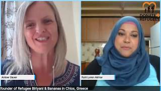 Ruhi Akhtar (RBB Founder) in a Live Interview with Amber Bauer from Donate4Refugees.