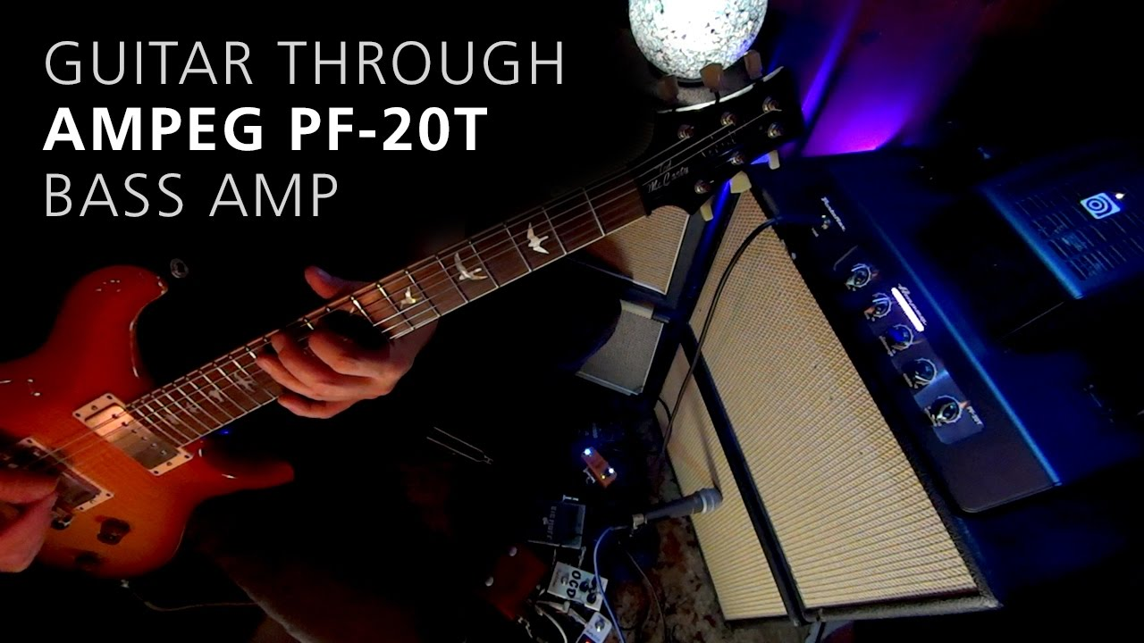 guitar through ampeg pf 20t bass amp head demo review 4 youtube. Black Bedroom Furniture Sets. Home Design Ideas