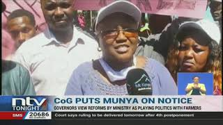 Governors reject agriculture ministry's tea reform agenda