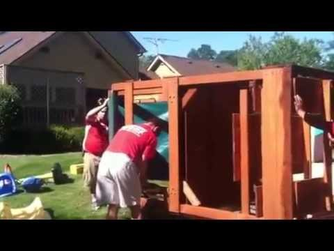 Here to there movers is moving a playset with ease