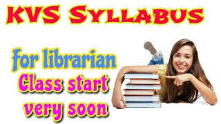Kvs job Librarian syllabus