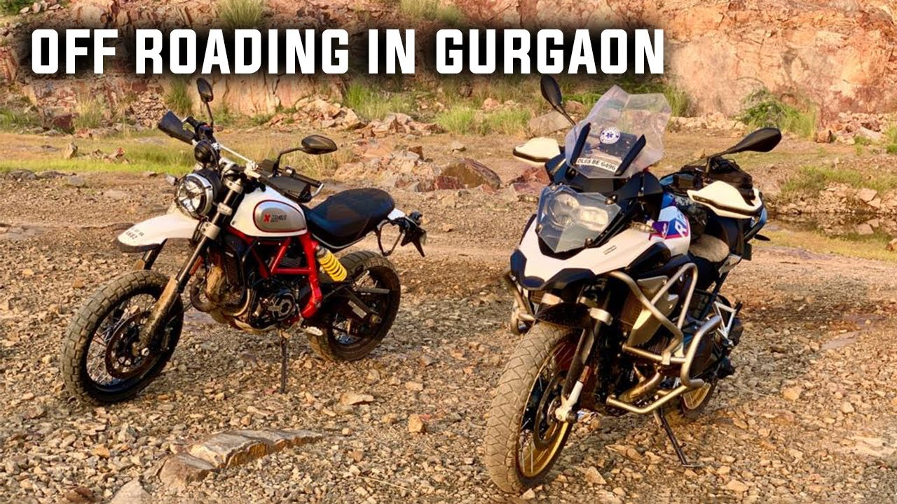 Off Roading in Gurgaon - BMW GSA, Africa Twin, Ducati Scrambler Desert Sled