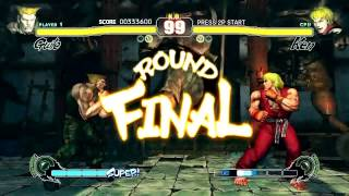 Street Fighter IV (PlayStation 3) Arcade Mode as Guile