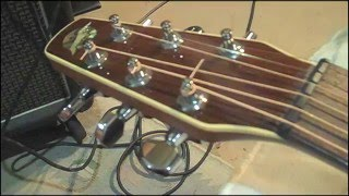 EASY Acoustic Guitar Action Improvement - string height Adjustment - simple tools