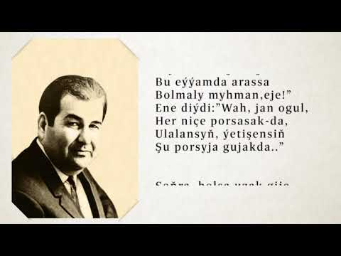Kerim Gurbannepesow-Ýazmasy Agyr Düşen Goşgy.