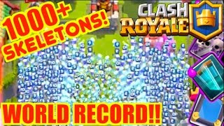 CLASH ROYALE WORLD RECORD!! MOST SKELETONS EVER 1000+!!