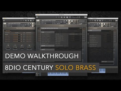 8Dio Century Solo Brass Demo Walkthrough w/ Troels Folmann