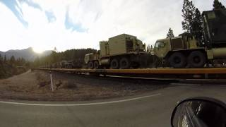The Government moving around its weapos of war through northern California