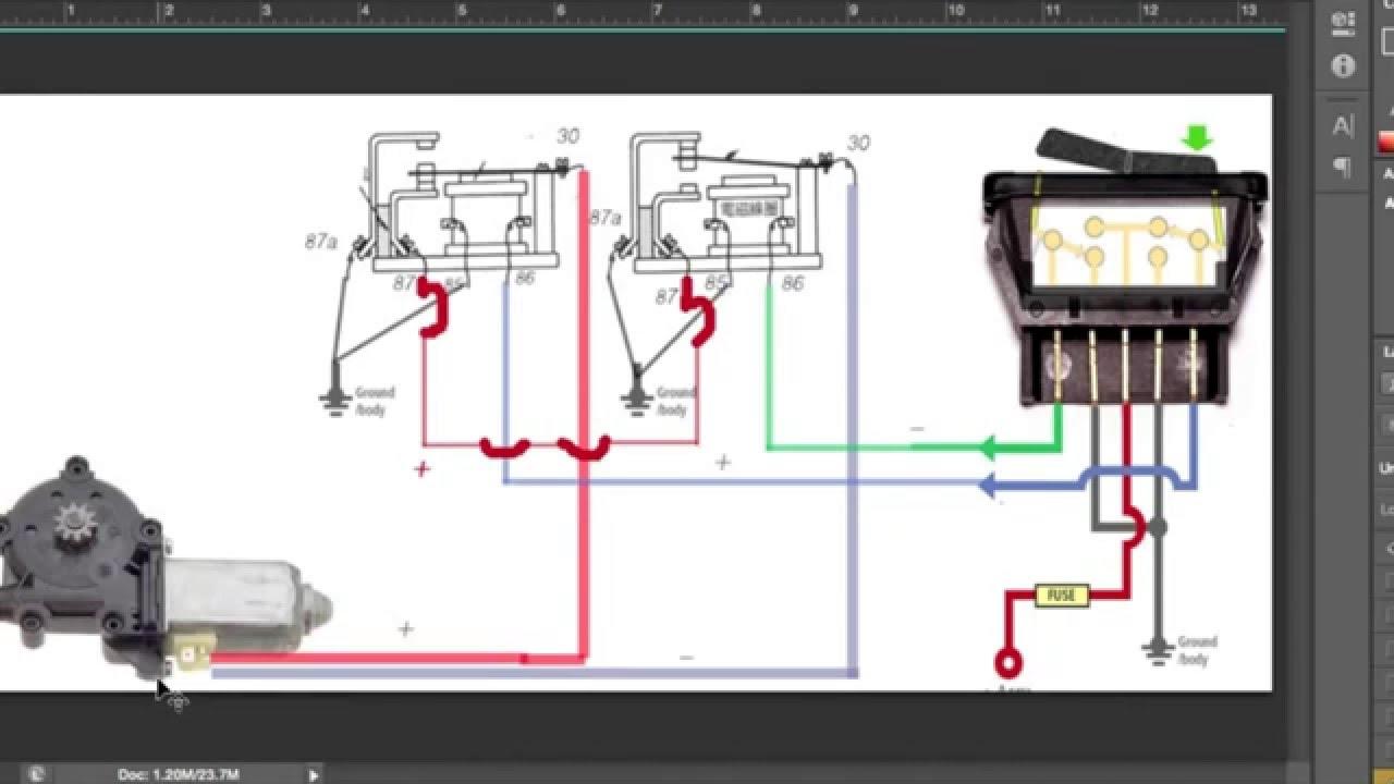 cara memasang relay power window [ 1280 x 720 Pixel ]