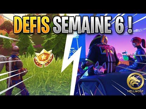 FORTNITE - COMPLETER RAPIDEMENT TOUT LES DEFIS DE LA SEMAINE 6 & PALIER GRATUIT !!
