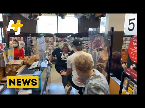 Anti-Maskers Confront Workers And Shoppers In Los Angeles