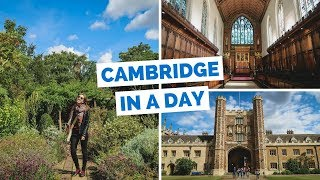 10 Things to do in Cambridge Travel Guide | London Day Trip