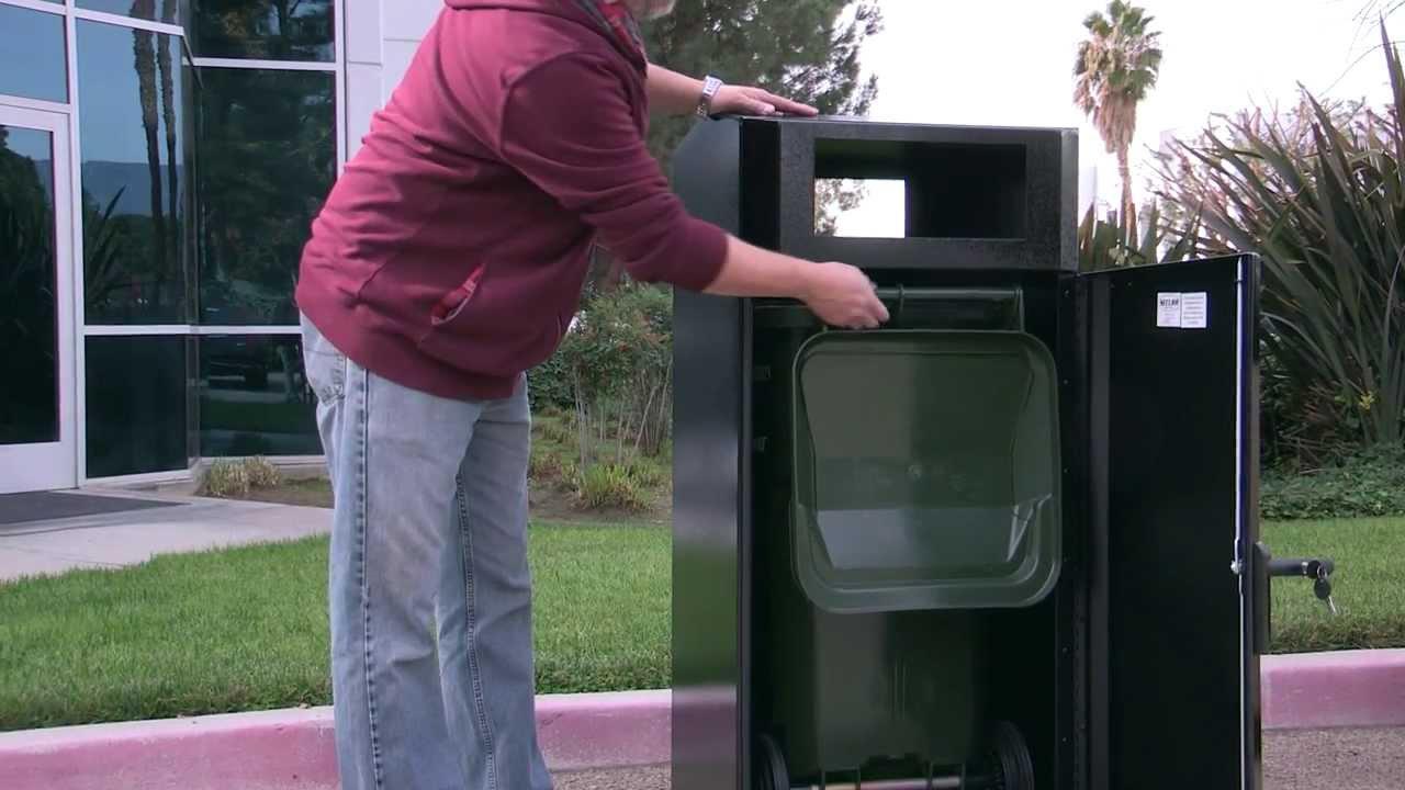 Trash Can Enclosure Cart Garage For Wheeled Trash Cans