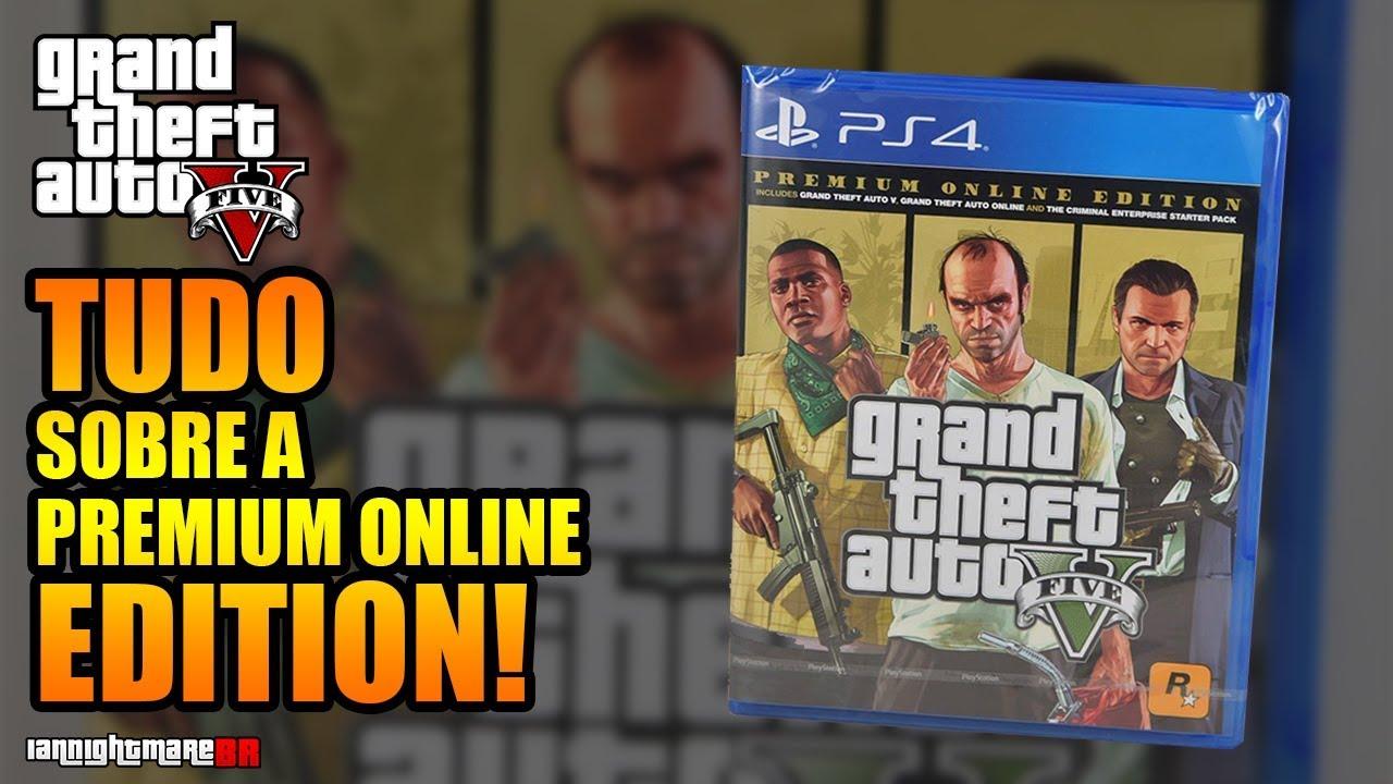 GTA V PREMIUM ONLINE EDITION: Tudo sobre a Nova Edição + Capa Revelada!