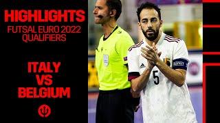 FUTSAL Futsal EURO 2022 Qualification Italy 4 1 Belgium