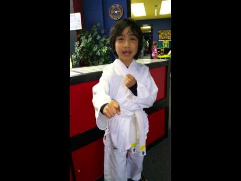Mountain View Martial Arts and fitness student saying Meaning of Chon Ji