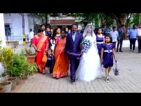 Indian Christian  Wedding of Blessin Adagal  And Ashwini video part - 2
