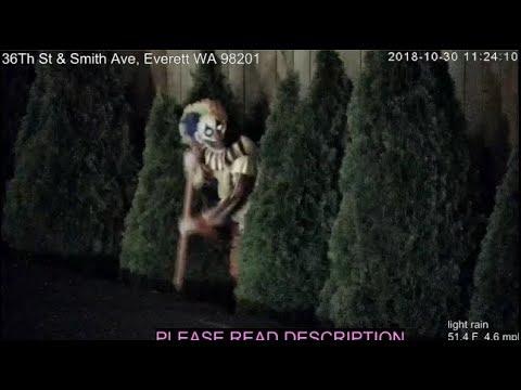 Tweaker clown attacks girl in Everett, WA