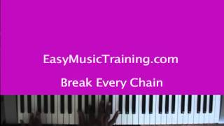 Break Every Chain - key of A / Tasha Cobbs / Jesus Culture / EasyMusicTraining.com
