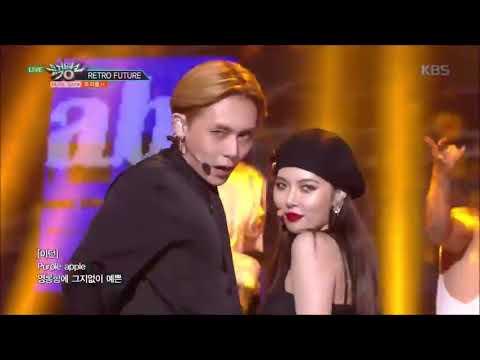 180803 뮤직뱅크 Music Bank - RETRO FUTURE - 트리플 H(Triple H)- HyunA Was Falling On Stage