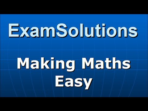 C2 Edexcel January 2012 Q8(a)(b) : ExamSolutions Maths Revision
