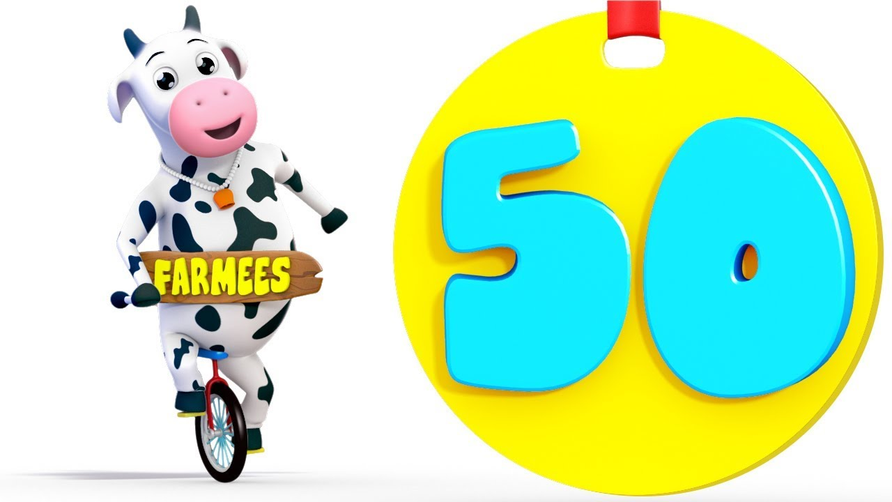 Learn to Count | One to Fifty | 1 - 50 | Kindergarten Learning Songs ...
