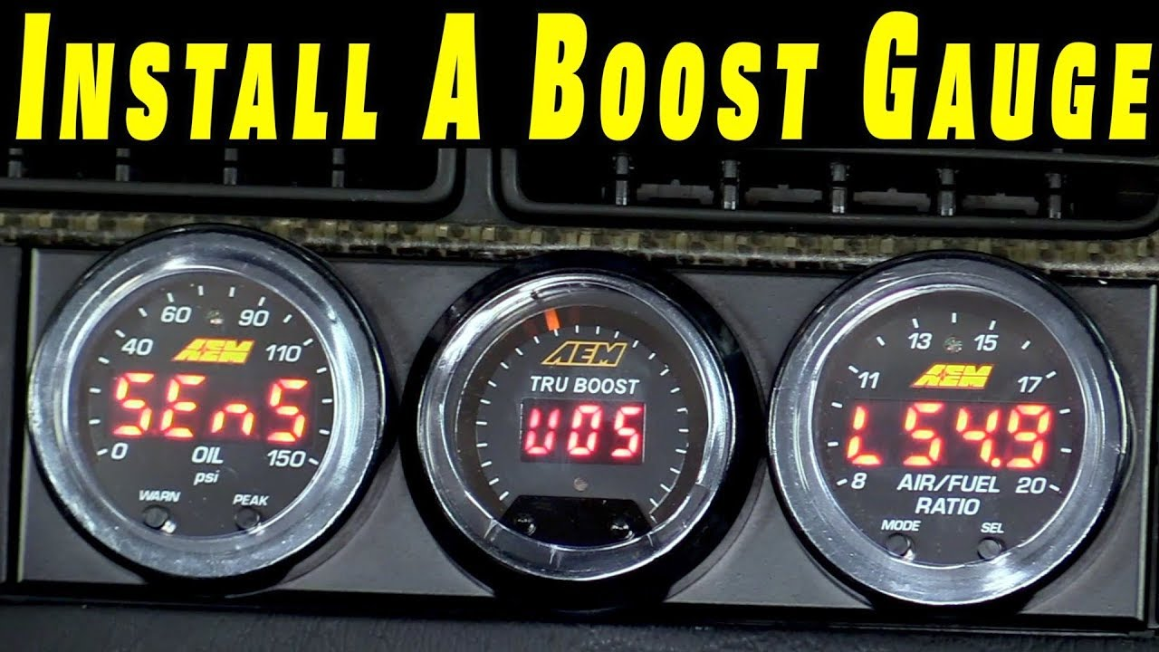 how to install a boost gauge on any car [ 1280 x 720 Pixel ]