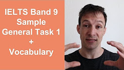 IELTS Band 9 Sample General Task 1 and Vocabulary
