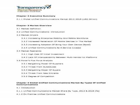 Unified Communications Market   Global Industry Analysis, Size, Share, Trends and Forecast, 2012   2