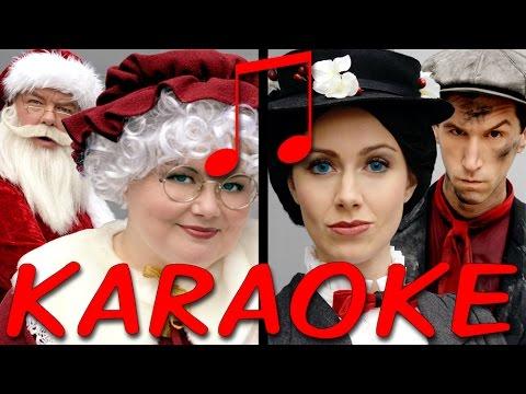 MRS CLAUS vs MARY POPPINS Karaoke (Princess Rap Battle) Instrumental Sing-along *explicit*
