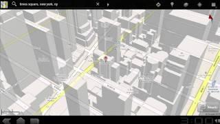 Видео-презентация приложения карт в Google Android 3.0